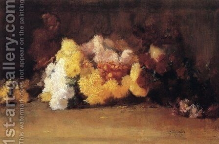 Chrysanthemums by Guy Rose - Reproduction Oil Painting
