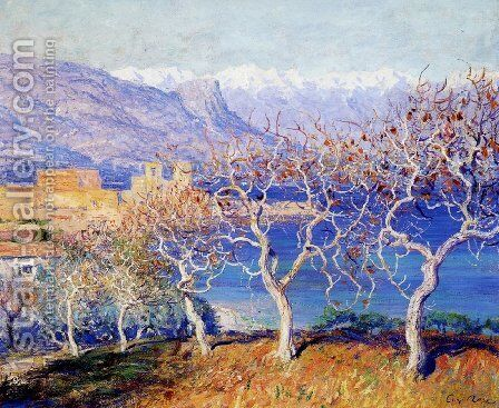 Fig Trees Antibes by Guy Rose - Reproduction Oil Painting