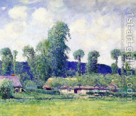 French Farm by Guy Rose - Reproduction Oil Painting