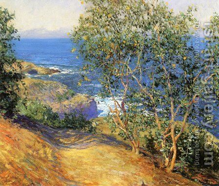 Indian Tobacco Trees La Jolla 1916 by Guy Rose - Reproduction Oil Painting