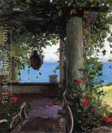 La Jolla Arbor by Guy Rose - Reproduction Oil Painting