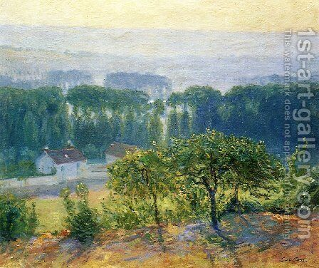 Late Afternoon Giverny 1910 by Guy Rose - Reproduction Oil Painting