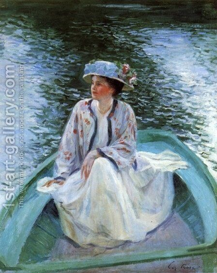 On the Rivers Edge by Guy Rose - Reproduction Oil Painting