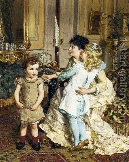Motherly Love by Edgard Farasyn - Reproduction Oil Painting