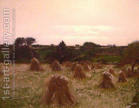 Haystacks Thompson Conn by Charles Harry Eaton - Reproduction Oil Painting