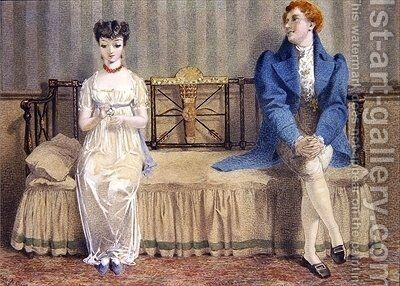 Courting by Adelaide Claxton - Reproduction Oil Painting