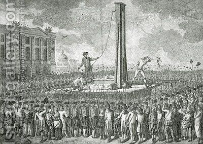 The Execution of Louis XVI 1754-93 by Jakob-Joseph Clausner - Reproduction Oil Painting