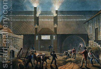 Exterior of the Boiling House by (after) Clark, William - Reproduction Oil Painting