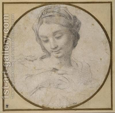 Head and shoulders of the Virgin by Carlo Cignani - Reproduction Oil Painting