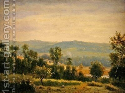Paysage du matin by Antoine Chintreuil - Reproduction Oil Painting