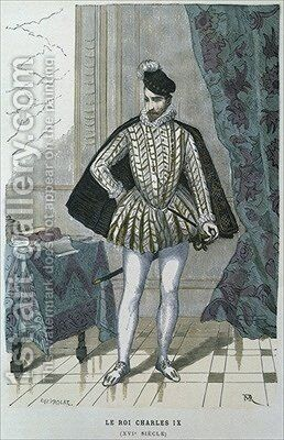 King Charles IX of France 1550-74 by after Chevignard - Reproduction Oil Painting