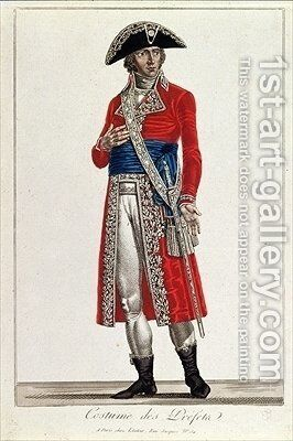 Costume of a Prefect during the period of the Consulate 1799-1804 of the First Republic by Chataignier - Reproduction Oil Painting