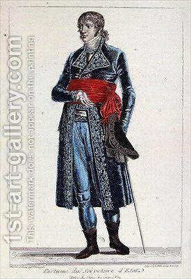 Costume of a Secretary of State during the period of the Consulate 1799-1804 of the First Republic in France by Chataignier - Reproduction Oil Painting