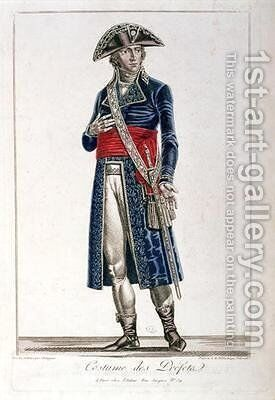 Costume of a Prefect during the period of the Consulate 1799-1804 of the First Republic 2 by Chataignier - Reproduction Oil Painting