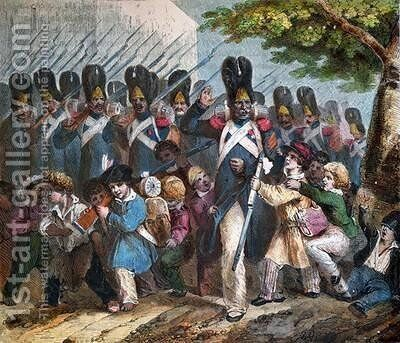 The Grenadiers of Napoleon I 1769-1821 by (after) Charlet, Nicolas Toussaint - Reproduction Oil Painting