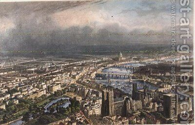 General Aspect of London by (after) Chapuy, Nicolas Marie Joseph - Reproduction Oil Painting