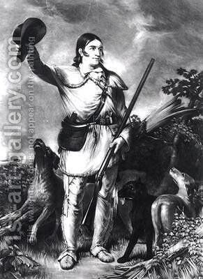 Colonel Davy Crockett by (after) Chapman, John Gadsby - Reproduction Oil Painting