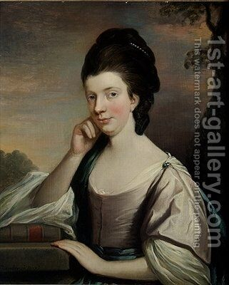 Portrait of a Lady thought to be Mrs Elizabeth Hartley by Mason Chamberlain - Reproduction Oil Painting