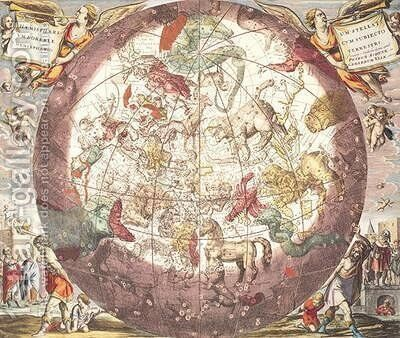 Northern Boreal Hemisphere by (after) Cellarius, Andreas - Reproduction Oil Painting