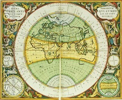 Ancient Hemispheres of the World by (after) Cellarius, Andreas - Reproduction Oil Painting