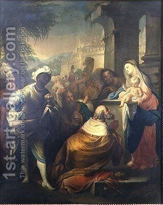 The Adoration of the Magi by Andrea Casali - Reproduction Oil Painting