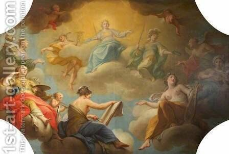 Allegory of the Arts by Andrea Casali - Reproduction Oil Painting