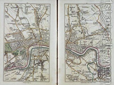 Map of East London by (after) Cary, John - Reproduction Oil Painting