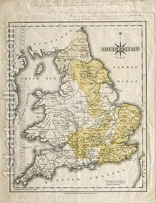 Map of Southern Britain by (after) Cary, John - Reproduction Oil Painting