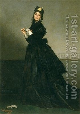 The Woman with the Glove by Carolus (Charles Auguste Emile) Duran - Reproduction Oil Painting