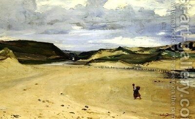 The Beach at Ambleteuse by Carolus (Charles Auguste Emile) Duran - Reproduction Oil Painting