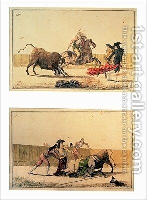 The Bullfight by Antonio Carnicero - Reproduction Oil Painting