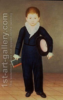 Marques de Penafiel Son of the Duke of Osuna by Antonio Carnicero - Reproduction Oil Painting