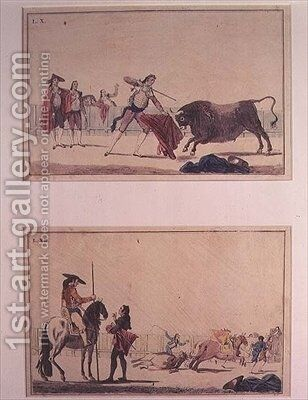 The Bullfight 3 by Antonio Carnicero - Reproduction Oil Painting