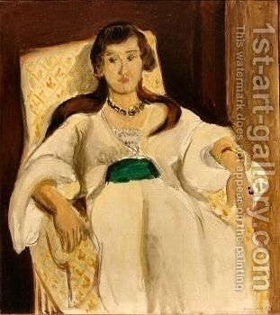 The Green Sash by Henri Matisse - Reproduction Oil Painting