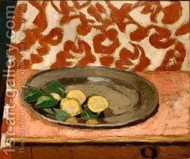 Lemons on a Pewter Plate by Henri Matisse - Reproduction Oil Painting