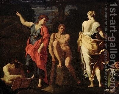 Hercules at the Crossroads 2 by Annibale Carracci - Reproduction Oil Painting