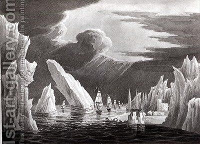 Passage through the Ice by Captain N. Rofs - Reproduction Oil Painting