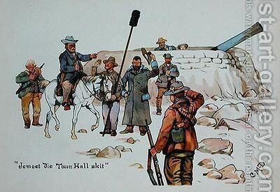 Jemoet die Town Hall skit by Captain Clive Dixon - Reproduction Oil Painting