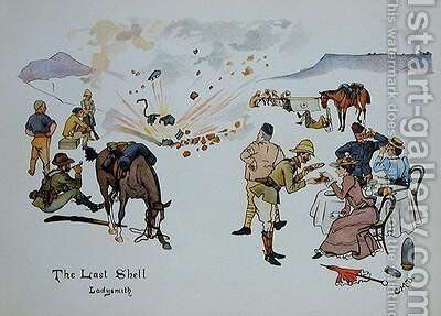The Last Shell, Ladysmith by Captain Clive Dixon - Reproduction Oil Painting