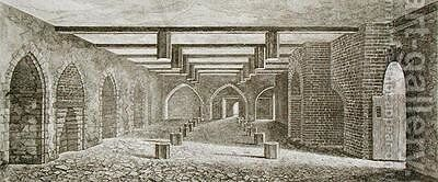 Powder Plot Cellar beneath the Palace of Westminster by (after) Capon, William - Reproduction Oil Painting