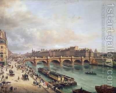 View of Pont Neuf by Guiseppe Canella - Reproduction Oil Painting