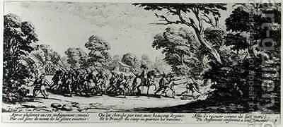 The Discovery of the Brigands by (after) Callot, Jacques - Reproduction Oil Painting