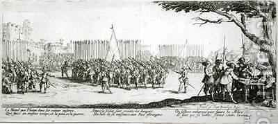 The Raising of an Army by (after) Callot, Jacques - Reproduction Oil Painting