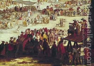 The Fair at Impruneta by (after) Callot, Jacques - Reproduction Oil Painting