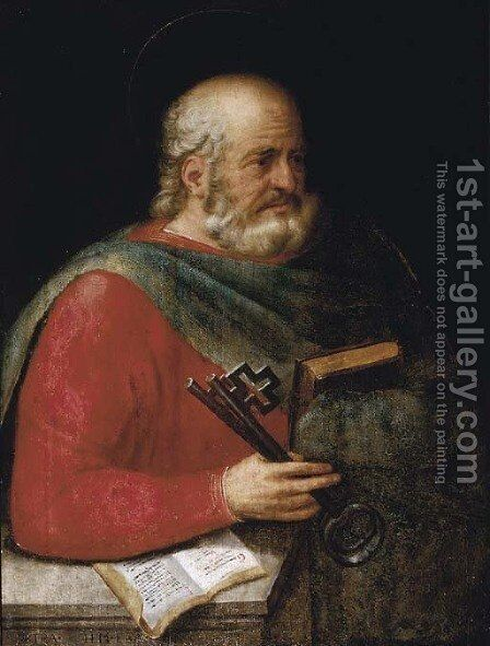 Saint Peter by (after) Abraham Bloemaert - Reproduction Oil Painting