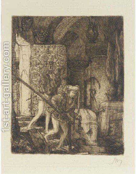 Etching 2 by Marius Bauer - Reproduction Oil Painting