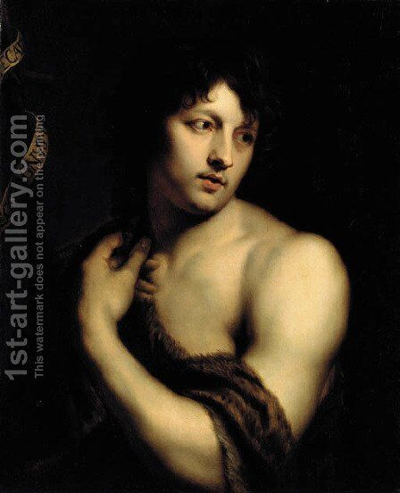 Saint John the Baptist by (after) Dyck, Sir Anthony van - Reproduction Oil Painting