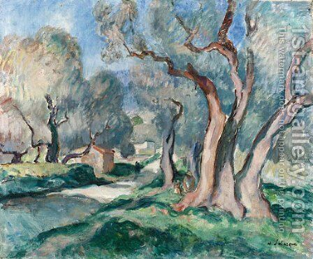 Chemin sous les oliviers by Henri Lebasque - Reproduction Oil Painting