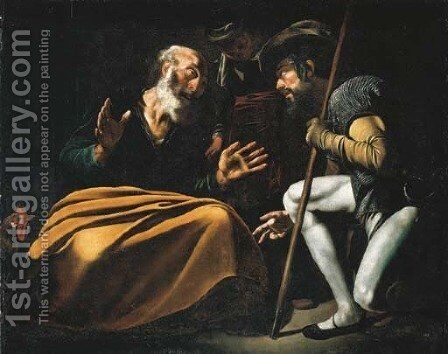 The Denial of St. Peter by (after) Michelangelo Merisi Da Caravaggio - Reproduction Oil Painting