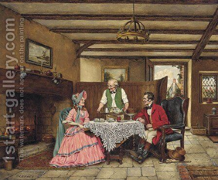 Teatime by Arthur Longlands Grace - Reproduction Oil Painting